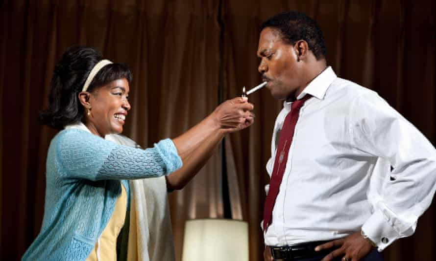 Heady heights ... Angela Bassett and Samuel L Jackson at The Mountaintop ..