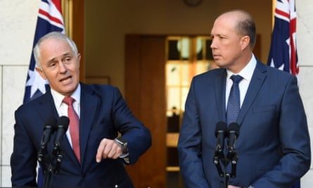 Malcolm Turnbull and Petter Dutton