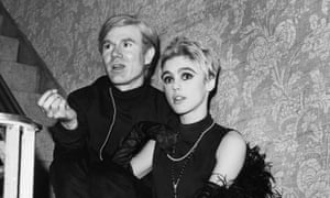 Andy Warhol and Edie Sedgwick.