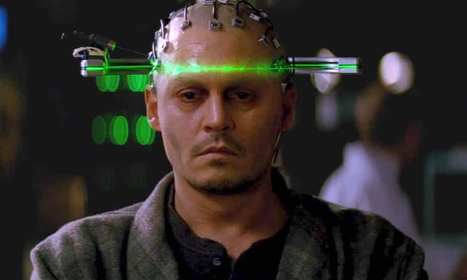 In Transcendence (2014), Johnny Depp plays an AI scientist who uploads his consciousness to a quantum computer.