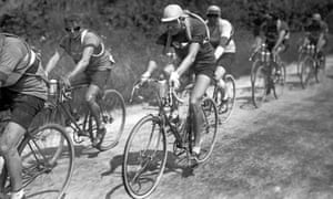 French racing cyclist Charles Pélissier rides during the 2nd stage Caen-Dinan of the 24th Tour de France, July 1930.
