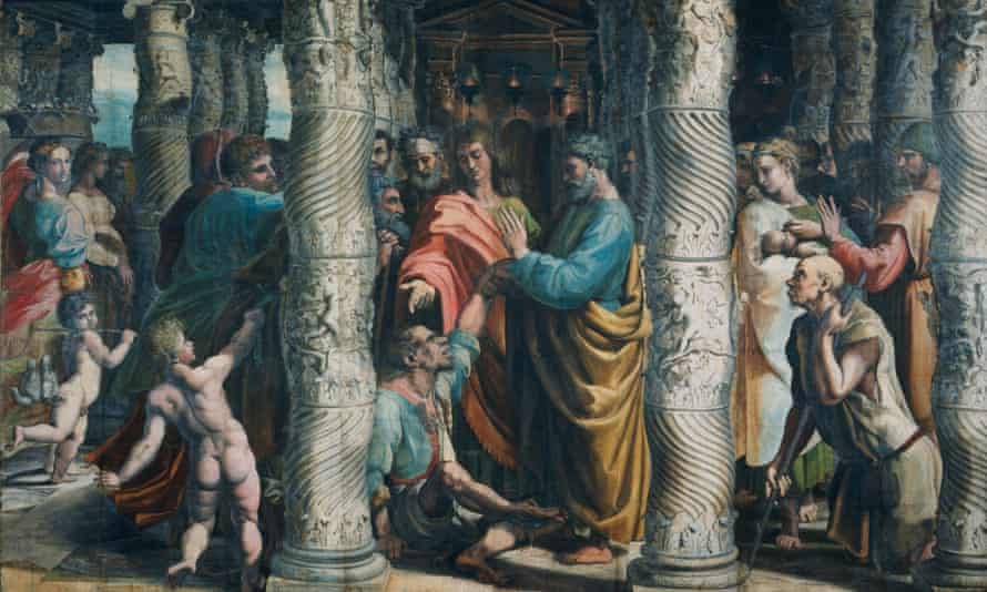 The Healing of the Lame Man (Acts 3: 1-8), circa 1515-16, by Raphael.