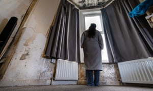 'Jade Smith', one of the tenants interviewed in last week's report, in her home in Weston-super-Mare.