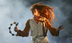 Florence Welch performing live in Austin