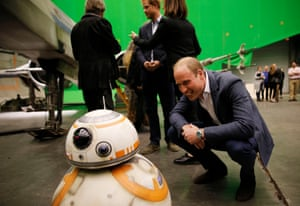 The Duke of Cambridge and Prince Harry give the royal seal of approval to Pinewood on a visit to its Star Wars sets last year.