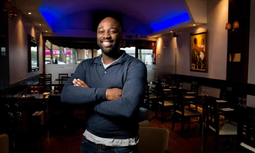 Manager Emmanuel James in 805 Restaurant in Peckham.