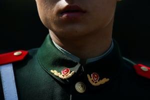 Beijing, China A paramilitary police officer