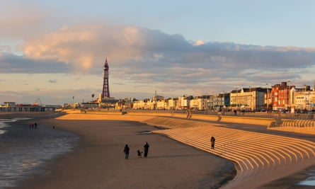 Blackpool beach, looking towards the tower