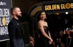 Actors Justin Timberlake and Jessica Biel
