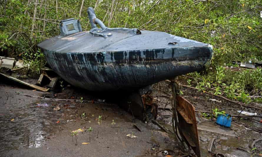 A homemade narco-submarine