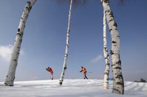 Cross-Country Skiing - Men's 50km Mass Start Classic Training.