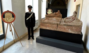 Painted sarcophaguses were among the antiquities found