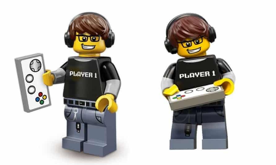 Lego Video Game Guy minifigure