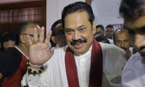 Newly appointed Sri Lankan Prime Minister Mahinda Rajapaksa