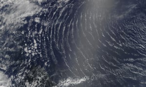 A satellite image of air turbulence over the mid-Atlantic