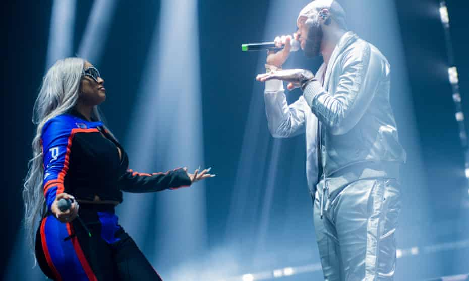 Headie One Performs At O2 Academy Brixton, LondonLONDON, ENGLAND - NOVEMBER 10: Stefflon Don and Headie One perform at O2 Academy Brixton on November 10, 2019 in London, England. (Photo by Ollie Millington/Redferms)