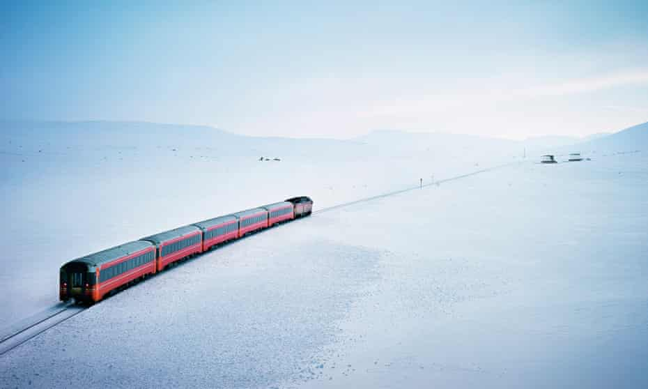 Going north: the Nordland railway heads towards the Arctic Circle.
