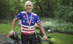 Carl Grove pictured with his bike in 2010: 'Us old guys are kind of like peanuts. I think that they're wasting their time'