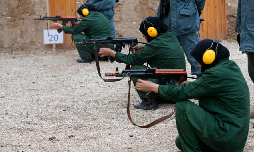 Female Afghan police trainees at a shooting range in Mazar-i-Sharif in 2012. At least 4,500 women have served with the police since 2001.