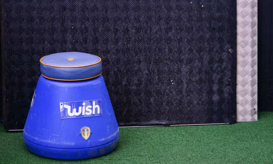 Marcelo Bielsa has become renowned for sitting on his blue bucket on the touchline.
