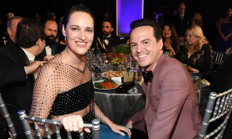 Phoebe Waller-Bridge and Andrew Scott at the Screen Actors Guild awards in Los Angeles in 2020.