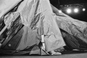 Donna Karan fashion show in New York, 1994