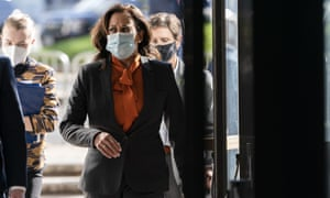 Kamala Harris on Capitol Hill Tuesday in Washington DC.