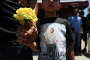 Guanica, Puerto Rico: Family and friends attend the funeral of Angel Candelario, one of the victims of the shooting at the Pulse night club in Orlando