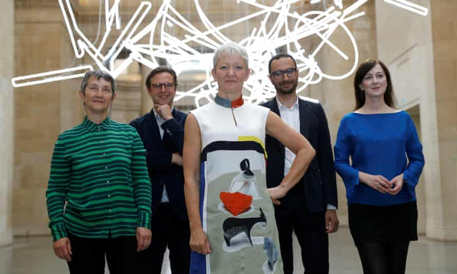 Maria Balshaw, centre, and the directors of the four Tate galleries.
