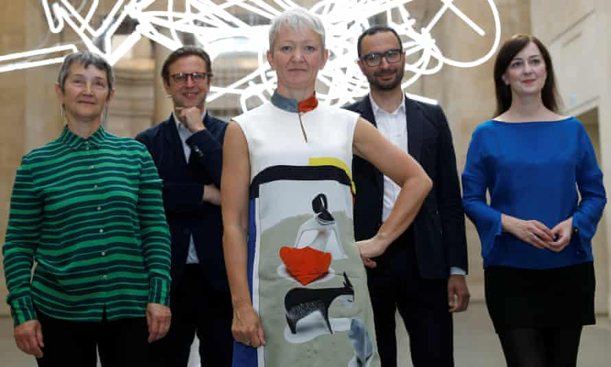 'I don't feel daunted' … Balshaw, with (from left) Frances Morris of Tate Modern, Alex Farquharson of Tate Britain, Francesco Manacorda of Tate Liverpool and Anne Barlow of Tate St Ives.