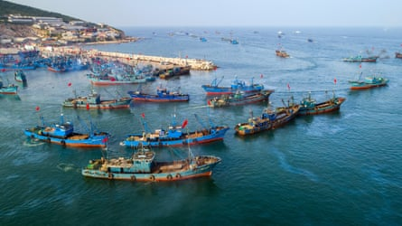 'The seas have to be healthy too' … vessels set sail after a four-month fishing ban on China's Yellow Sea and Bohai Sea.