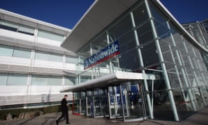 A man walks into Nationwide House in Swindon