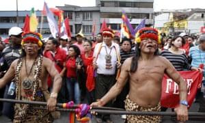In 2012, indigenous Ecuadoreans