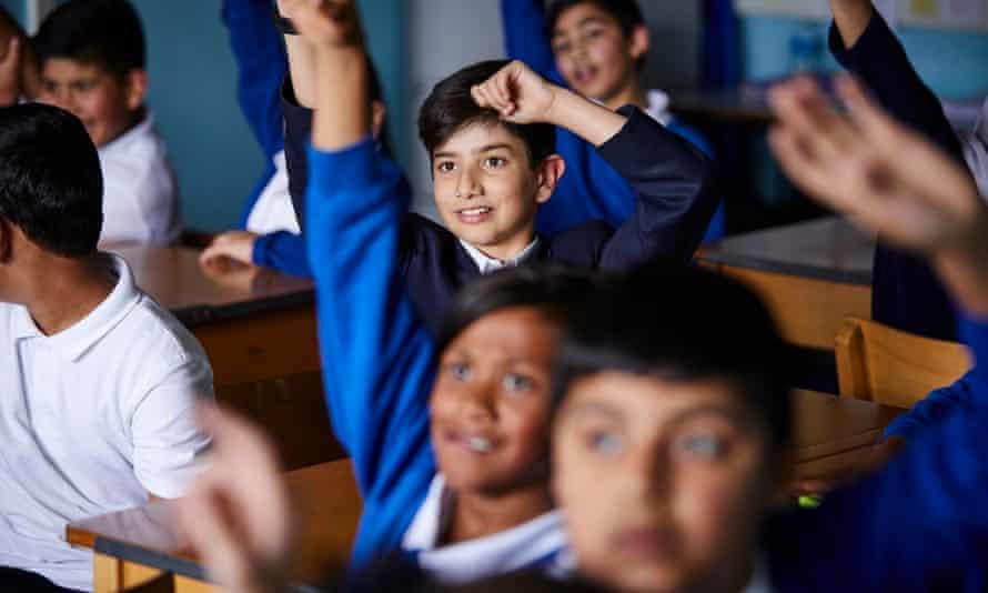 Pupils at Feversham Primary Academy in Bradford, West Yorkshire.