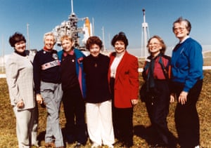 Wally Funk (second left) with six other women from the Mercury 13