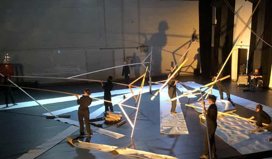 Rays of hope … the beams of light sequence in the show.