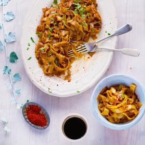 Nigella Lawson's drunken noodles.