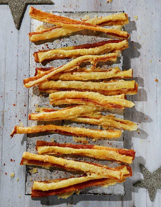 Alvin Caudwell's cheesy Marmite straws.