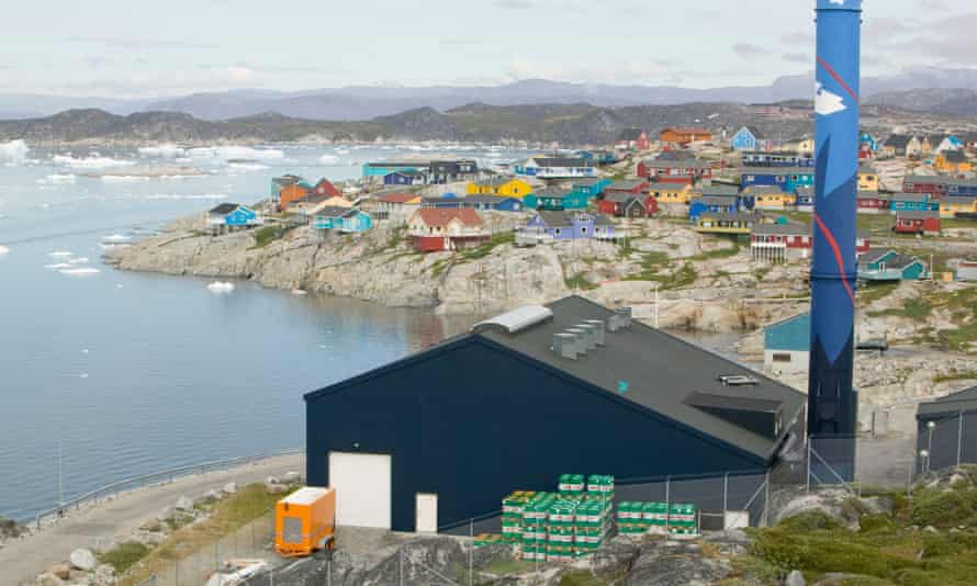 An oil-fired power plant in Illulisat, Greenland, a self-governing territory of Denmark seeking full independence.