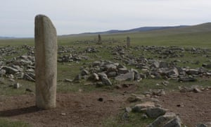 Across the Mongolian steppe, bronze age standing stones are surrounded by dozens of small stone mounds, each containing the remains of a sacrificed horse. Study of these horses shows evidence for the region's first nomadic horse culture circa 1200 BCE.