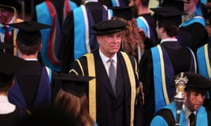Prince Andrew as chancellor of the University of Huddersfield