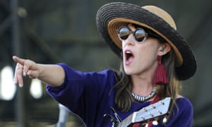 Feist performing at the Sasquatch music festival in Washington state, US, 2012.