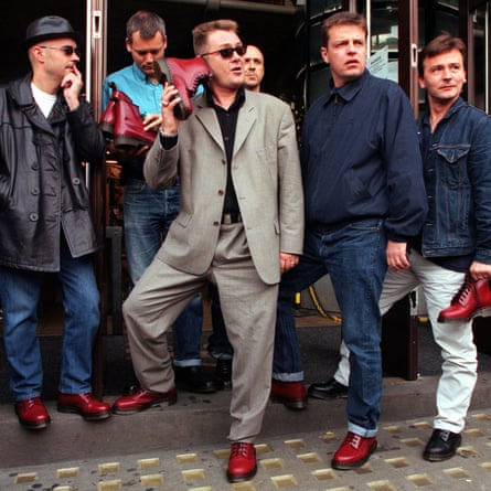 Pop group Madness launching limited edition 1460 boot in 1999.