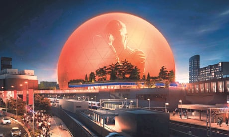 An artist's impression of the proposed MSG Sphere