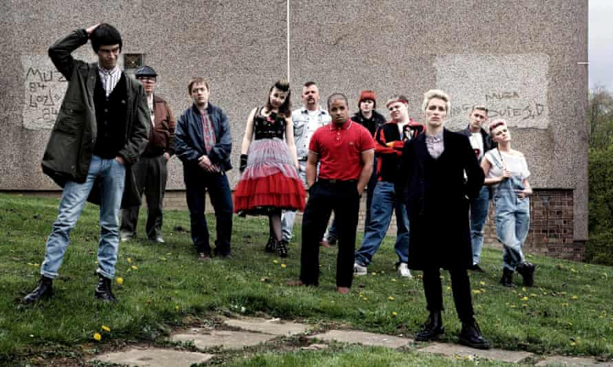 Some scream, some weep, some shuffle about awkwardly … the cast of This Is England 86.