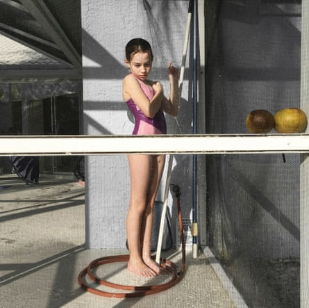 Beautifully observed … Monika Merva's portrait of her daughter in a swimsuit.