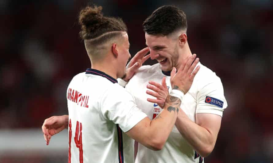 Kalvin Phillips (left) and Declan Rice (right) have been key in England's progress to the final.