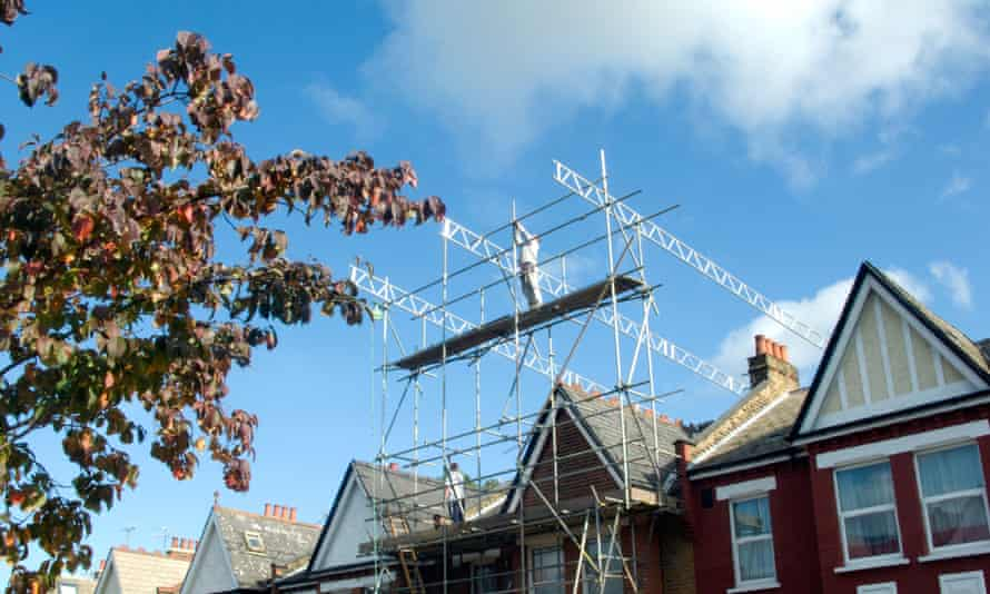 Scaffolding for a loft extension is now a familiar site on residential streets.