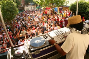 Norman Jay and his Good Times sound system at carnival in 2005.