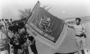 An undated image of Fifth Brigade members in Zimbabwe